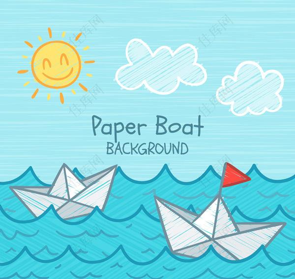 大海里的纸船