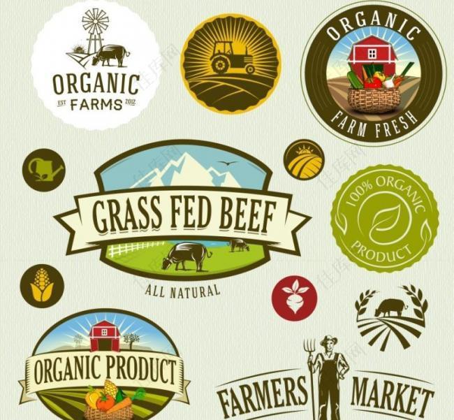 原生态农场徽章 logo图片